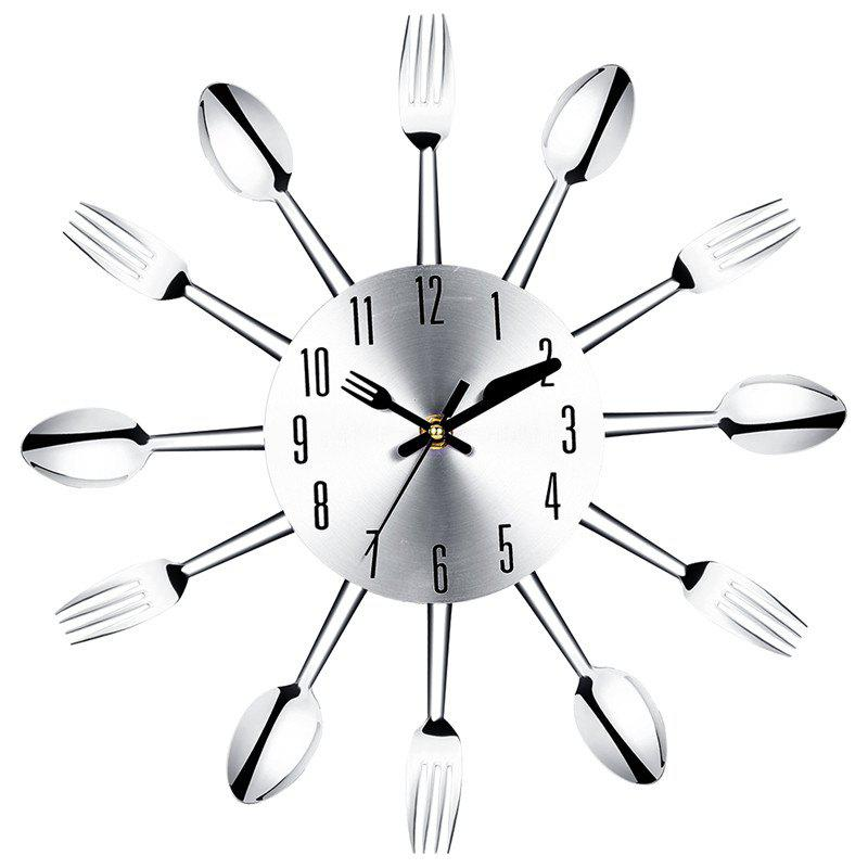 Creative Kitchen Restaurant Cutlery Clock