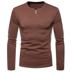 Men's Fashion Large Size Plus Warm Casual Long-Sleeved T-Shirt -
