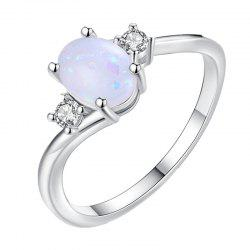 Oval Cut Opal Diamond Ring Birthday Gift -