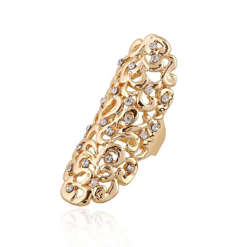 Latest Fashion Exaggeration Hollow Carving Alloy Drill Ring