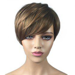 Fashionable Partial Distribution Type Gradient Ramp Straight Short Wig -
