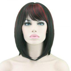 Fashionable Slim Face Gradient Ramp Neat Bangs Short Wig -