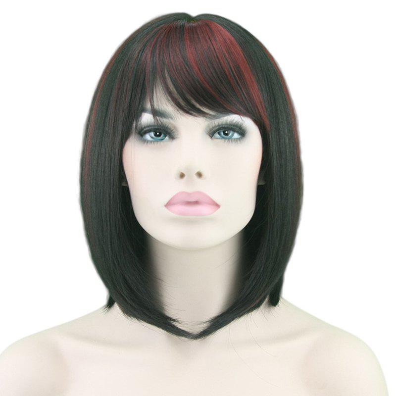 Buy Fashionable Slim Face Gradient Ramp Neat Bangs Short Wig