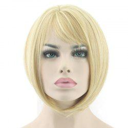 Partial Distribution Type Mushroom Hairstyle Short Wig -