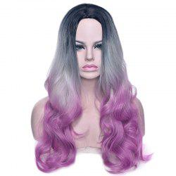 Central Parting Hair Style Gradient Ramp Slim Face Long Wig -