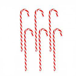 6PCS Candy Cane Hanging Christmas Ornament -