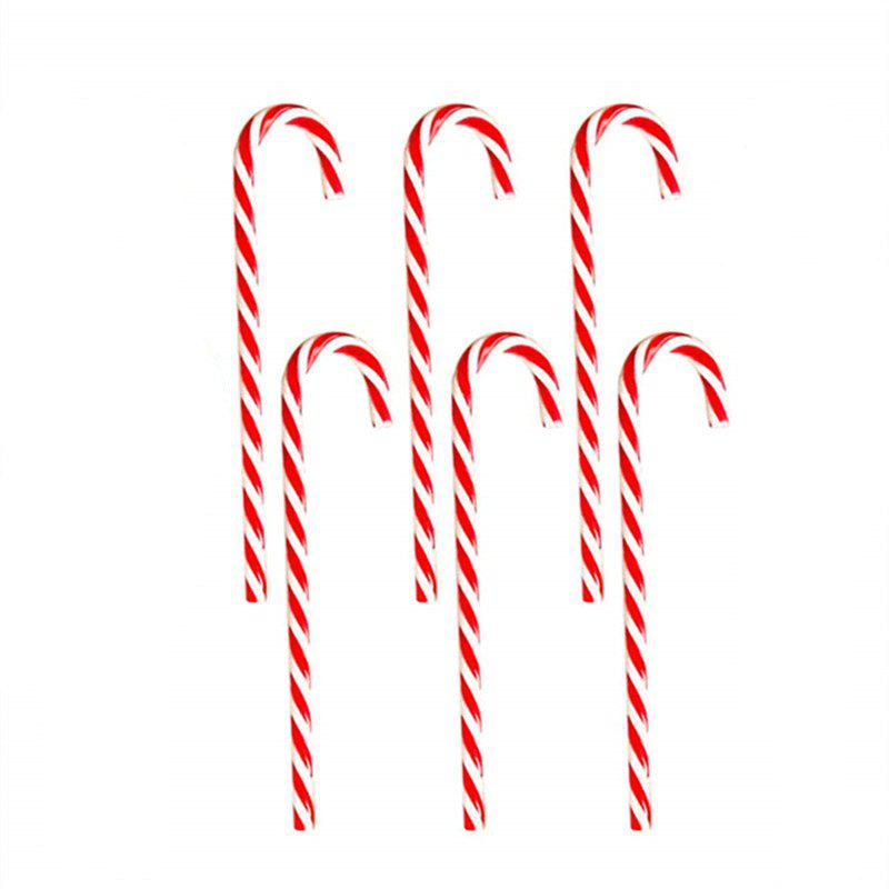 6PCS Candy Cane accrochant un ornement de Noël