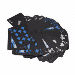 Black Diamond Cards Water-resistant Deck Collection Poker Playing Toy Gift Creative -