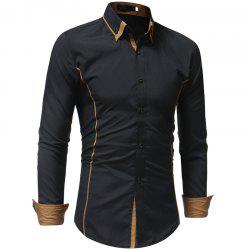 Men's Casual Fashion Slim Long Sleeve Shirt -