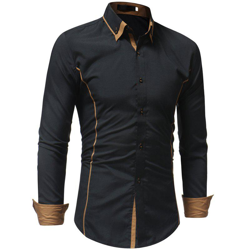 Latest Men's Casual Fashion Slim Long Sleeve Shirt