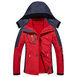 Ladies Water Resistant Windproof Breathable Large Size Outdoor Hood Jacket -