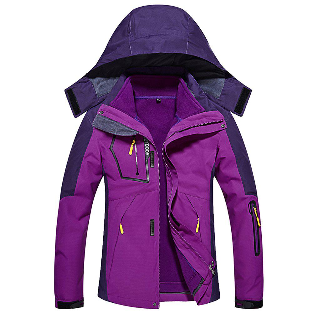 Store Ladies Water Resistant Windproof Breathable Large Size Outdoor Hood Jacket