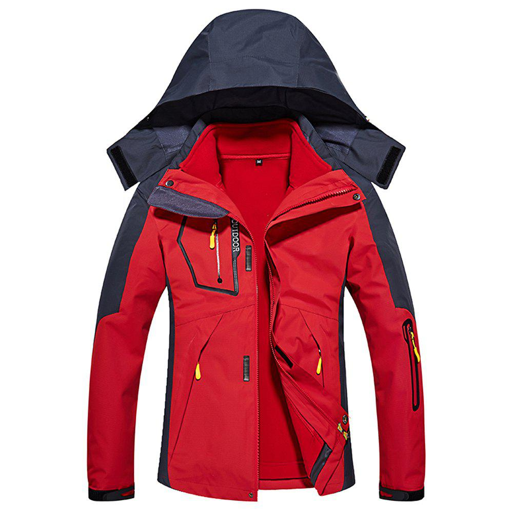Fancy Ladies Water Resistant Windproof Breathable Large Size Outdoor Hood Jacket