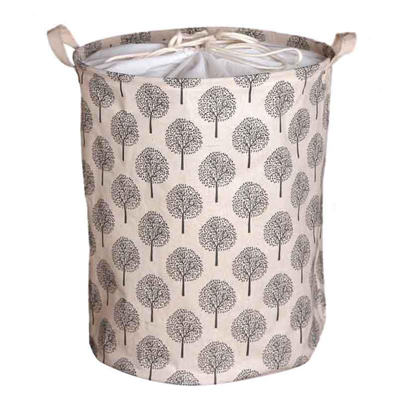 Store Large Bucket Drawstring Beam Port Dirty Clothes Laundry Basket Foldable