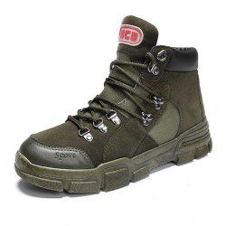 Men Autumn Outdoor High-Cut Solid Martens Boots -