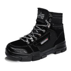 Men Outdoor Stylish Solid High-Cut Martens Boots -
