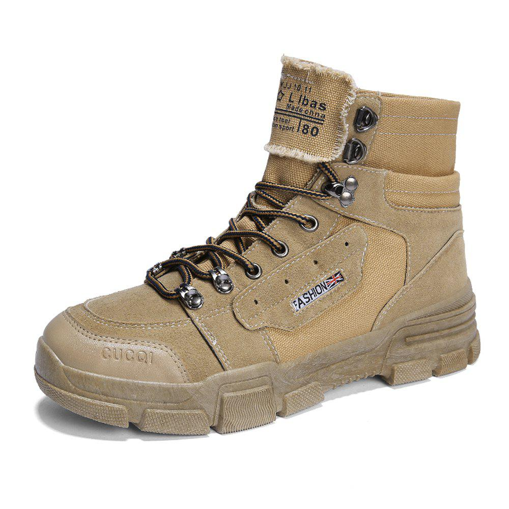 Hot Men Outdoor Stylish Solid High-Cut Martens Boots