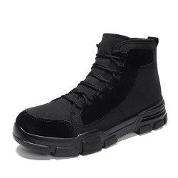 Men High-Cut Solid Comfortable Durable Martens Boots -