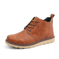 Men Autumn Solid Brief Vintage Dersert Boots -