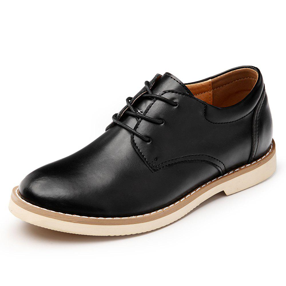 Fashion Men'S High Gloss and Low Leather Casual Shoes