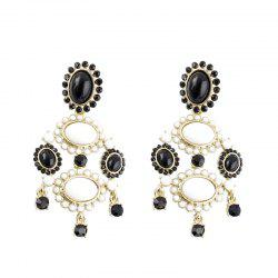 Fashion Exaggerated Gemstone Dripping Pendant Earrings -