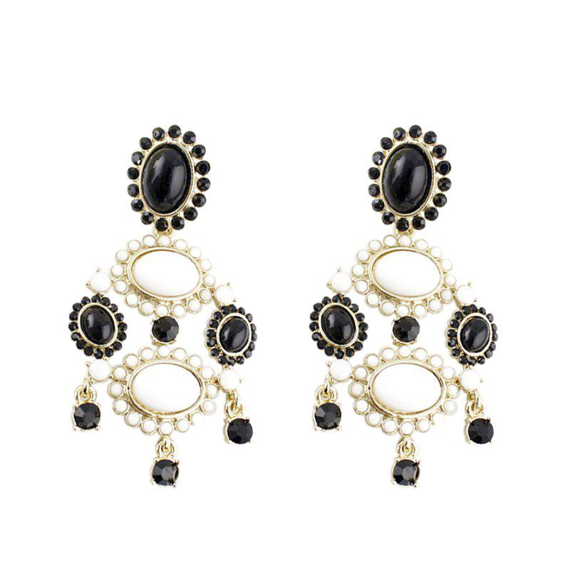 Sale Fashion Exaggerated Gemstone Dripping Pendant Earrings