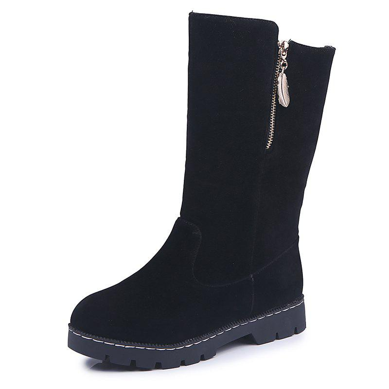 Online New Medium Tube Round Bottomed Women Boots