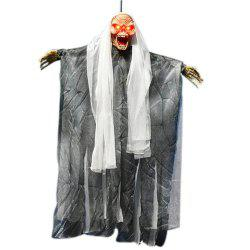 Halloween Decoration Electric Sound Control Hanging Ghost Horror Tricky Toy -