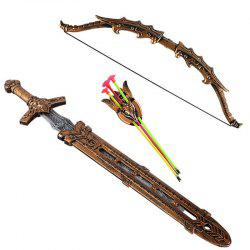 Shiled Bow and Arrow Sword Sucker Simulation Archery Plastic Toy -