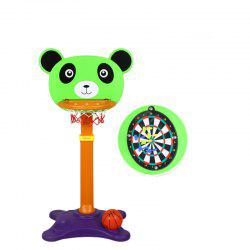 Happy Maty LY-C3004 Height Adjustable Bear Basketball Stand Including Dart Disc -