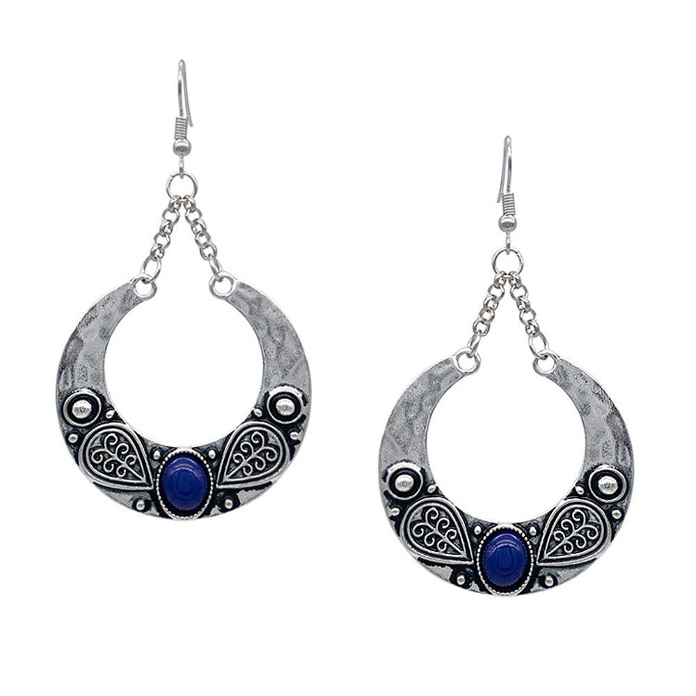 Latest Bohemian Carved Artificial Gemstone Antique Silver Accessory