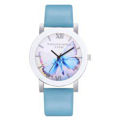 P672 Big Butterfly Mirror Student Watch -
