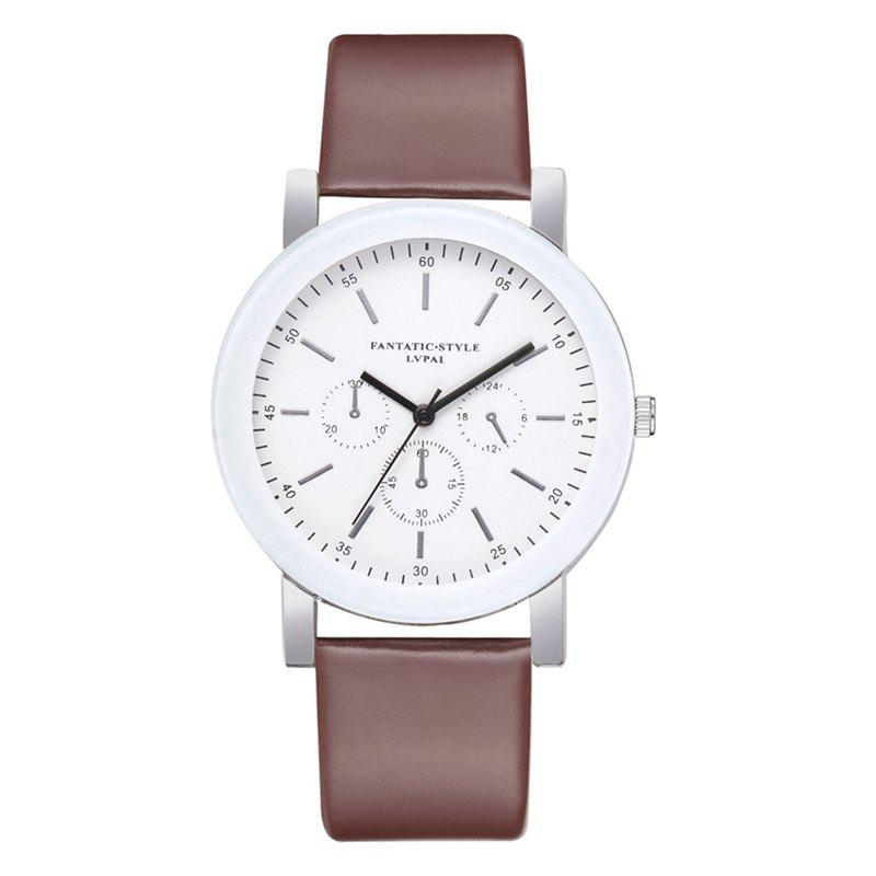 P674 Candy Color Leather Student Watch