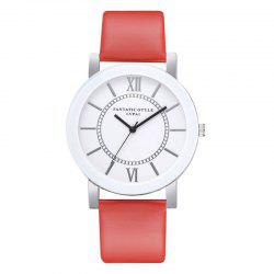 P676 Ladies PU Fashion Leather Watch -