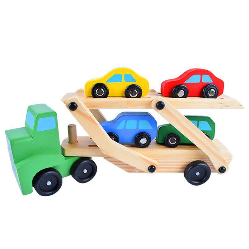 Store Wooden Truck Transporter Child Intelligence Toy