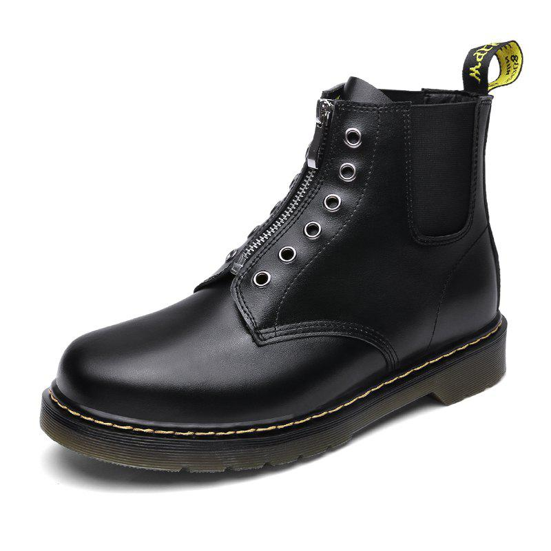 Online Winter Velvet Wear-Resistant Breathable Leather Men'S Tooling Boots