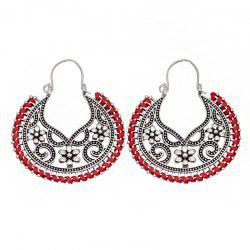 Dangle  Hollow Out Round Shape Vintage Earrings -