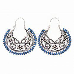 Dangle Hollow Out Round Boucles d'Oreilles Vintage -