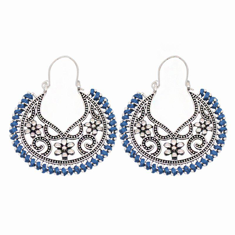 Dangle Hollow Out Round Boucles d'Oreilles Vintage