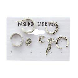 7PCS Lady's Nice Leaves  Earrings Suit -