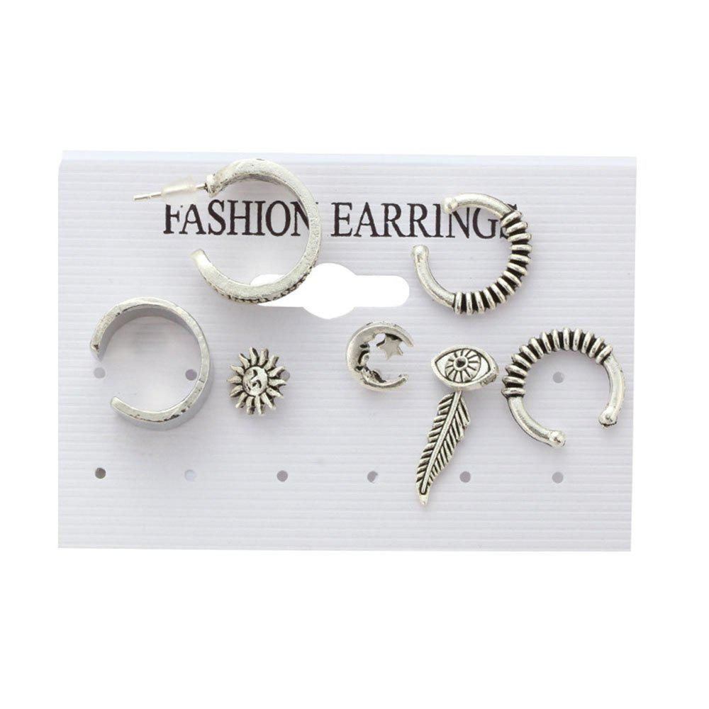 Best 7PCS Lady's Nice Leaves  Earrings Suit