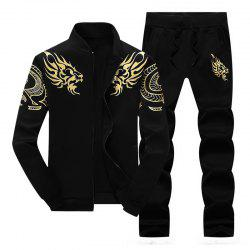 Men Cozy Hooded Pullover Long Pants Casual Set -