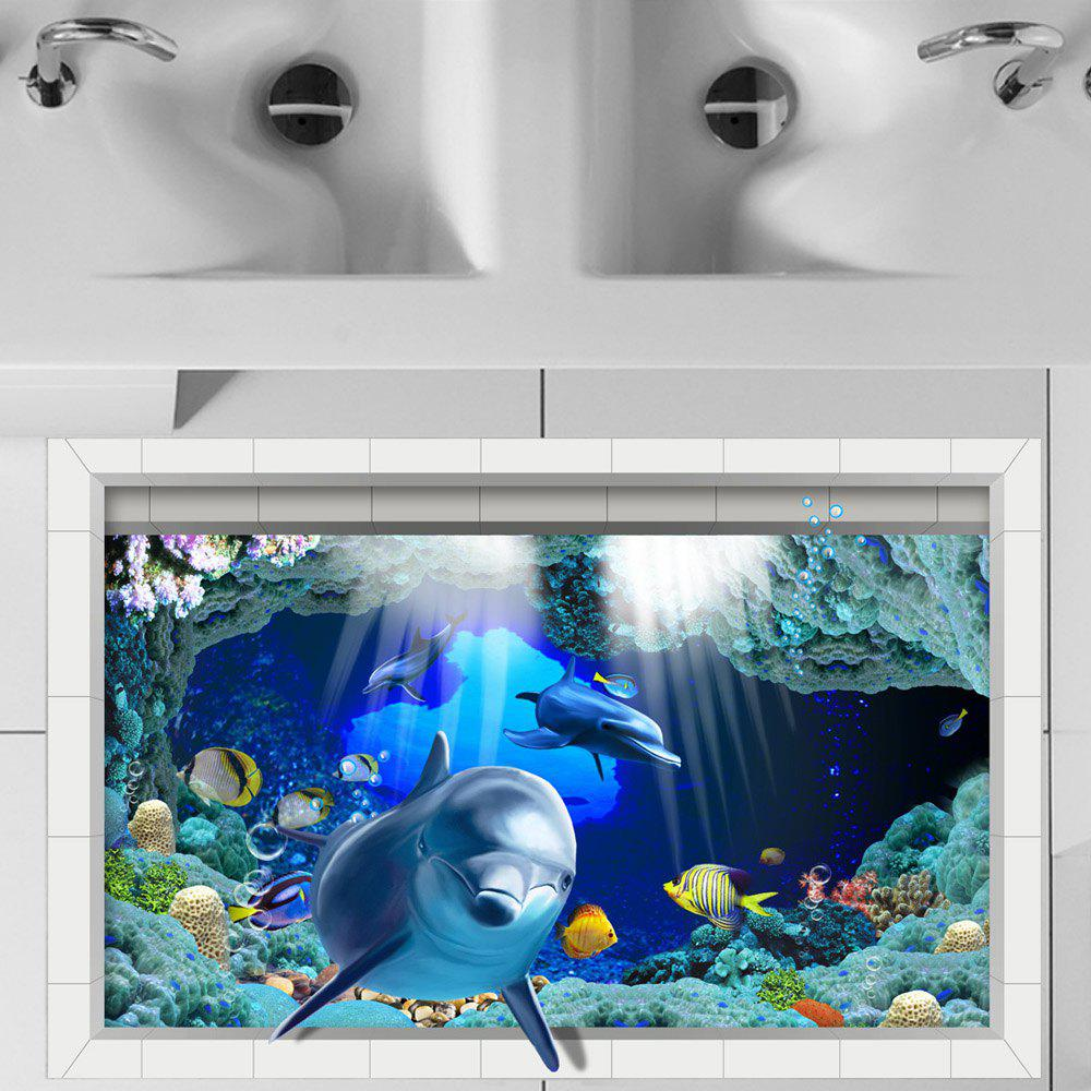 Shops 3D Floor Stickers Creative Decorations Marine Dolphins