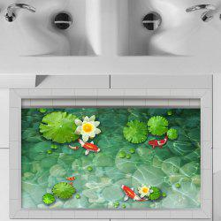 3D-наклейки для пола Creative Decoration Lotus Goldfish -