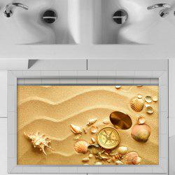 3D Floor Stickers Creative Beach Shells -