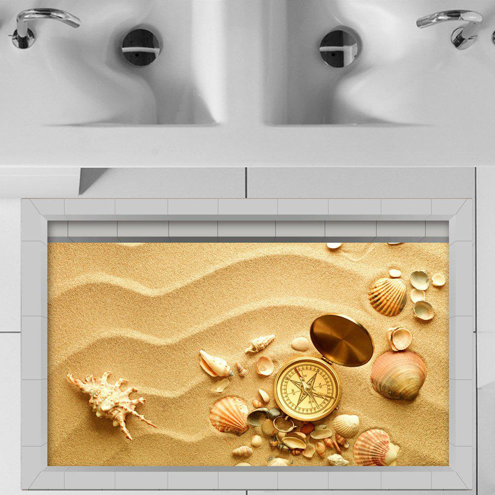 Shop 3D Floor Stickers Creative Beach Shells
