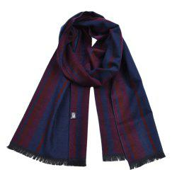 Men's Fashion Causal Super Soft Warm Stripe Scarf -