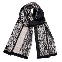Men Chinese Porcelain Winter Warm Soft Shawl Scarf -