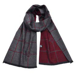 Men's Double-Sided Warm Yarn-Dyed Scarf -