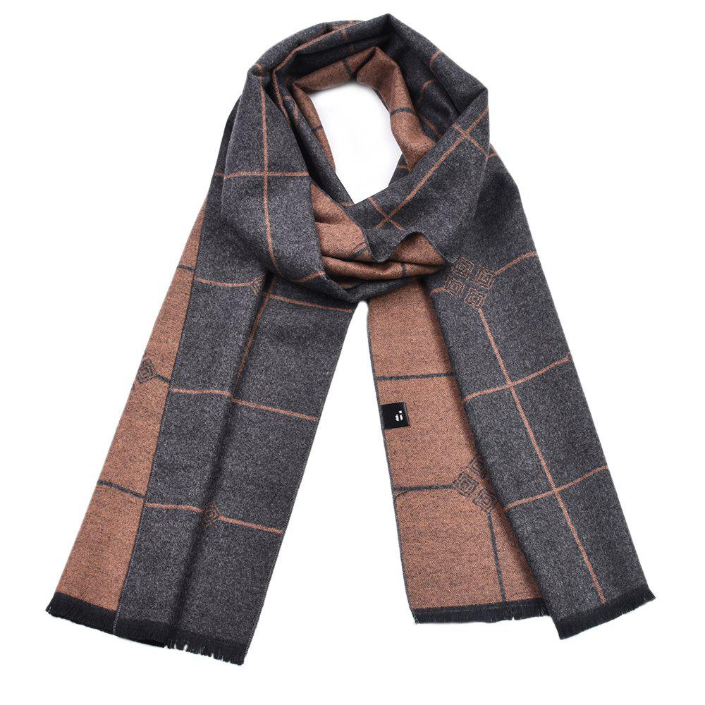Latest Men's Double-Sided Warm Yarn-Dyed Scarf